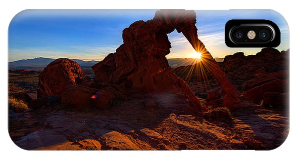 Valley Of Fire iPhone Case - Elephant Sunrise by Chad Dutson