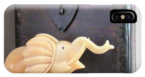 Elephant With Elephant Box IPhone Case