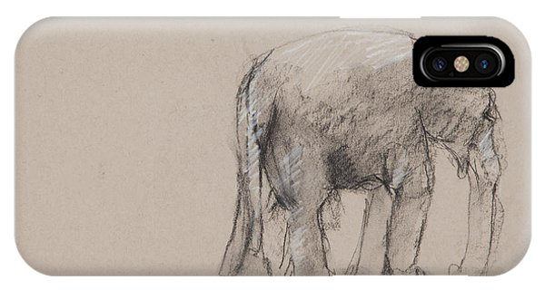 Elephant Charcoal Study #1 IPhone Case