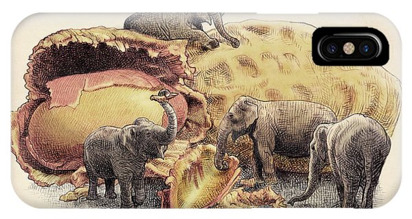 Elephant's Paradise IPhone Case