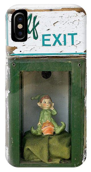 elf exit, Dubuque, Iowa IPhone Case