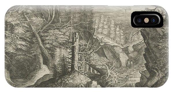 Raven iPhone Case - Elia Fed By A Raven by Crispijn Van De Passe (i)