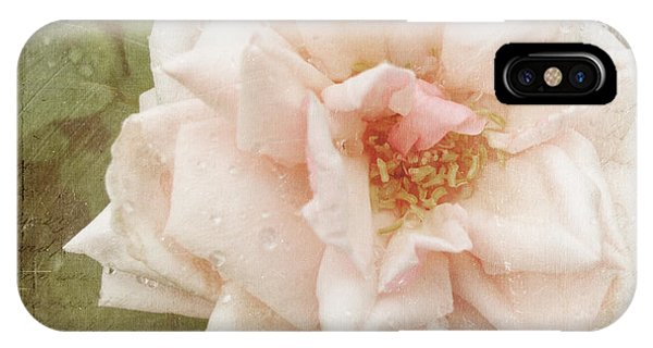 Elie Beauvillain Rose Textured Art IPhone Case