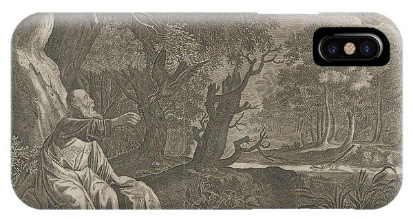 Raven iPhone Case - Elijah Fed By Ravens, Pieter Nolpe, Anonymous by Pieter Nolpe And Anonymous And Pieter Symonsz. Potter