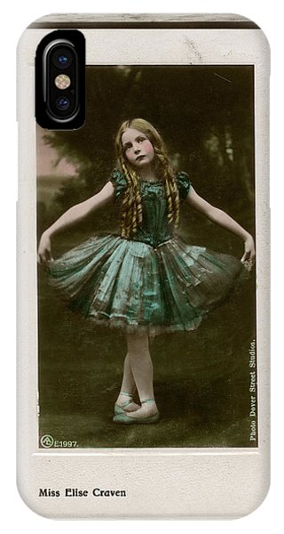 Child Actress iPhone Case - Elise Craven (1898 - 1983), Child by Mary Evans Picture Library
