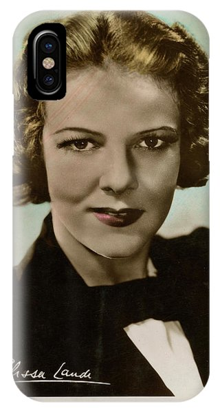 Leading Actress iPhone Case - Elissa Landi (1904 - 1948), Film by Mary Evans Picture Library