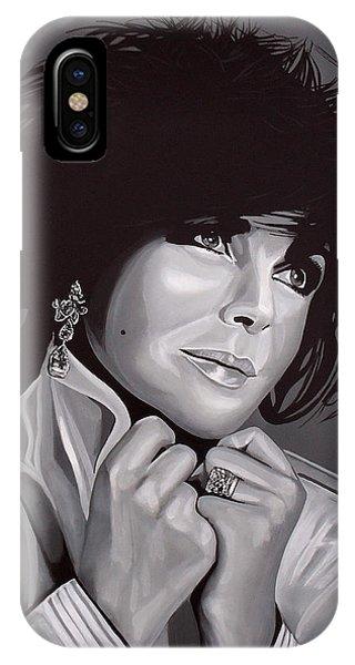Michael Jackson iPhone Case - Elizabeth Taylor by Paul Meijering