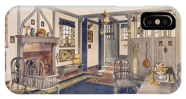 Fireplace iPhone Case - Elizabethan Style Entrance Hall by Richard Goulburn Lovell