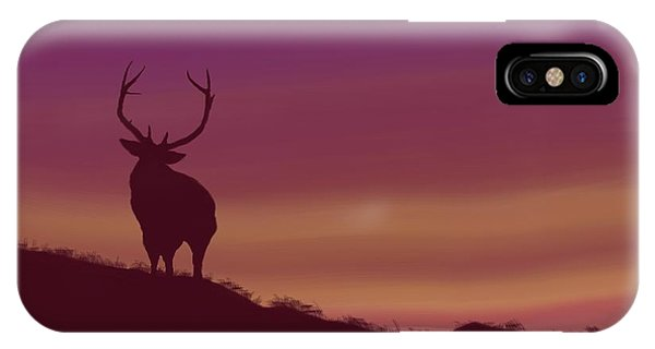 Elk At Dusk IPhone Case