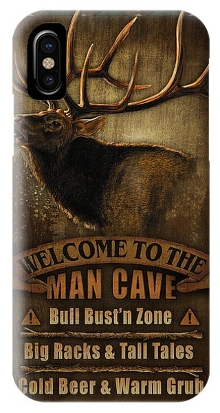 Turkey iPhone Case - Elk Man Cave Sign by JQ Licensing