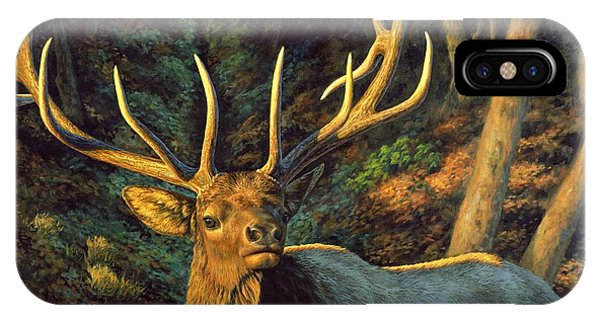 Rocky Mountain iPhone Case - Elk Painting - Autumn Majesty by Crista Forest