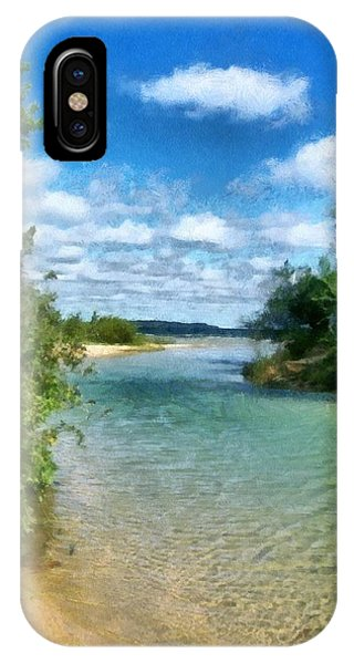 Elk River- Elk Rapids Michigan IPhone Case