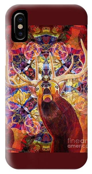 Elk Spirits In The Garden IPhone Case