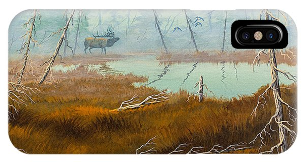 Elk Swamp IPhone Case