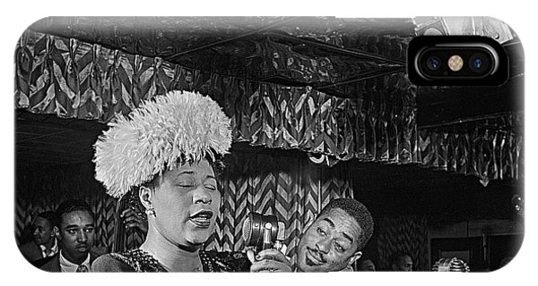 Ella Fitzgerald And Dizzy Gillespie William Gottleib Photo Unknown Location September 1947-2014. IPhone Case