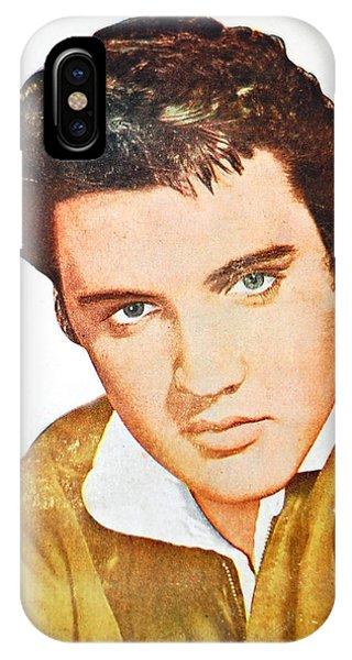 Elvis Colored Portrait IPhone Case