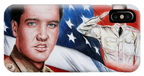 Elvis Patriot  IPhone Case
