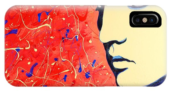 Elvis Presley - Red Blue Drip IPhone Case