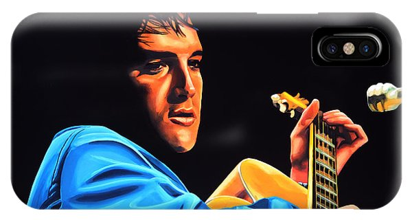 Rhythm And Blues iPhone Case - Elvis Presley 2 Painting by Paul Meijering
