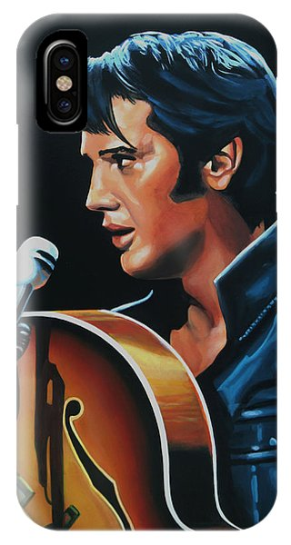 Rock And Roll Art iPhone Case - Elvis Presley 3 Painting by Paul Meijering