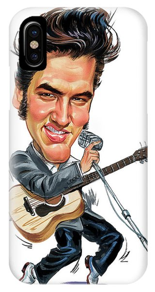 Laugh iPhone Case - Elvis Presley by Art