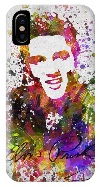 Rhythm And Blues iPhone X / XS Case - Elvis Presley In Color by Aged Pixel