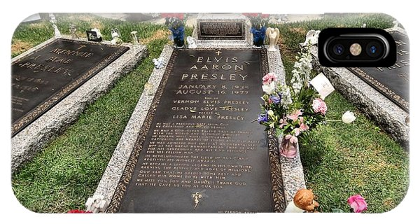 976f7afb4c3 Graceland Cemetery iPhone Case - Elvis Presley Laid To Rest by Dan Sproul