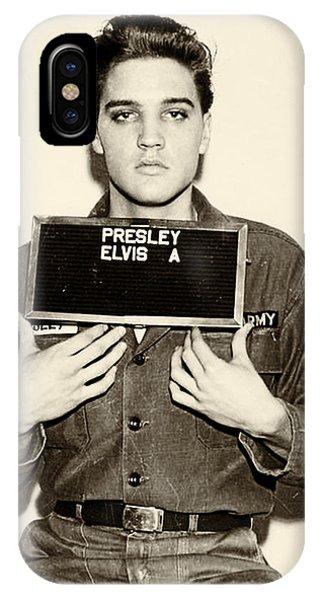 Elvis Presley - Mugshot IPhone Case