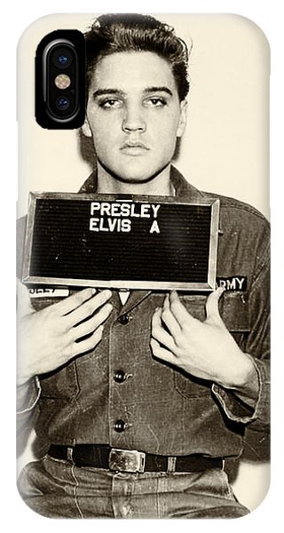 iPhone Case - Elvis Presley - Mugshot by Digital Reproductions