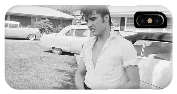 Audubon iPhone X Case - Elvis Presley With His Cadillacs by The Harrington Collection