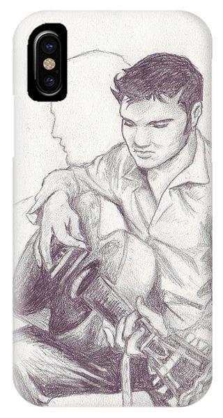 Elvis Sketch IPhone Case