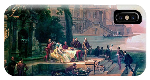 Emanuele Filiberto Receives Torquato Tasso In The Gardens Of The Park IPhone Case