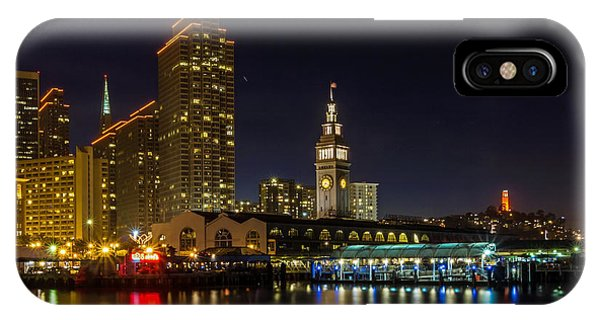 IPhone Case featuring the photograph Embarcadero Blue Hour by Kate Brown