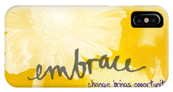 Change iPhone Case - Embrace Change by Linda Woods