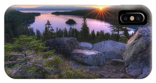 Sunrise iPhone Case - Emerald Bay by Sean Foster