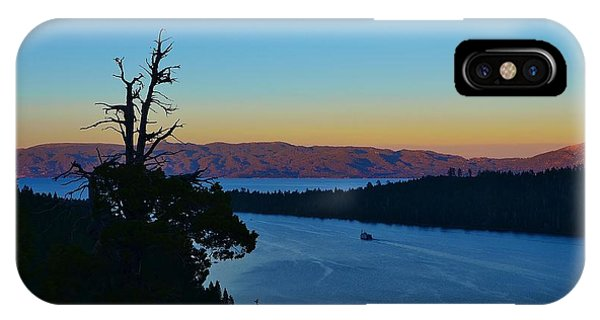 Emerald Bay Sunset IPhone Case