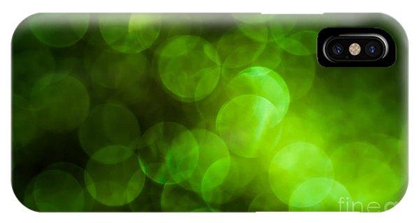 Emerald Bokeh IPhone Case