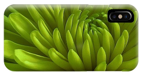 Emerald Dahlia IPhone Case