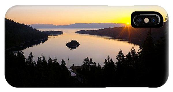 Sunrise iPhone Case - Emerald Dawn by Chad Dutson