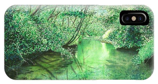 Emerald Stream IPhone Case