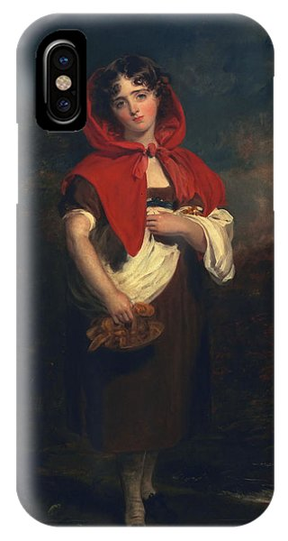 Child Actress iPhone Case - Emily Anderson Little Red Riding Hood by Thomas Lawrence