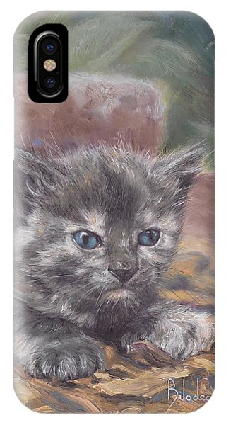 Kitten iPhone Case - Emily by Lucie Bilodeau