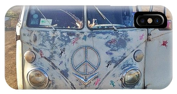Volkswagen Bus iPhone Case - @emilymurray And I Sat At The Top Of by Dave Meszaros