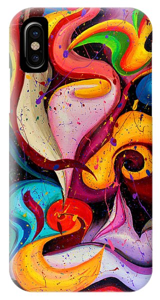 Modern Colorful Abstract  IPhone Case