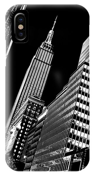 Empire State iPhone Case - Empire Perspective by Az Jackson