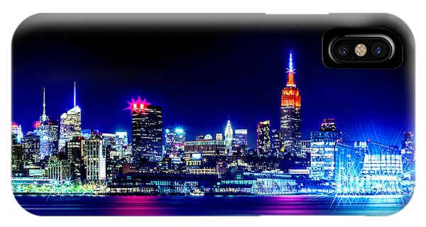 New Jersey iPhone Case - Empire State At Night by Az Jackson