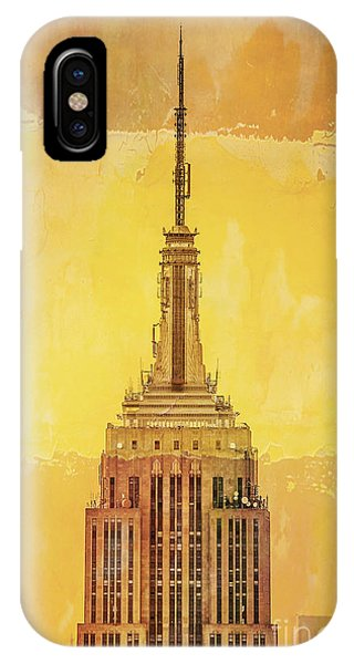 City iPhone Case - Empire State Building 4 by Az Jackson