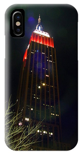 Empire State Building And Green Tree IPhone Case