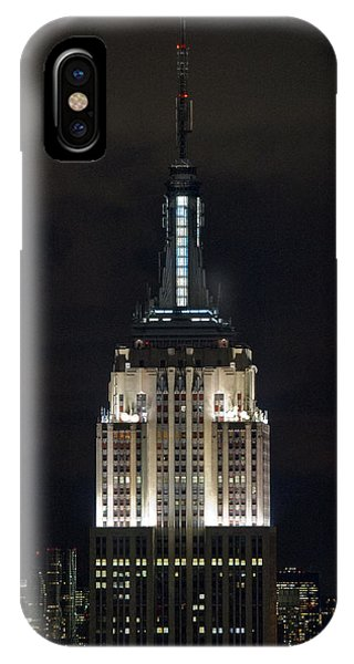 Empire State Building At Night IPhone Case