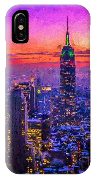 Empire State Building Phone Case by Michael Petrizzo